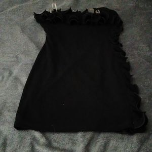 Cute LBD with ruffle details BNWOT